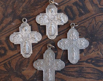 SALE Vintage Saints Mary Religious Medals 4