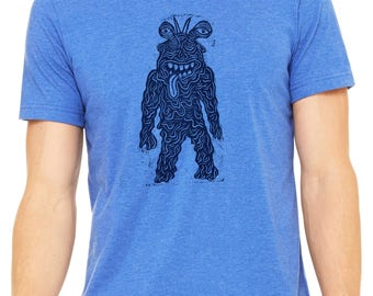 Tarboy Hand Carved   Woodblock Printed T Shirt