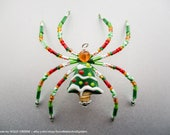Oh Christmas Tree Lampwork Decorated Christmas Spider Tree Ornament w/ Legend - Holiday #spiderornament Family Kids Stocking Stuffer