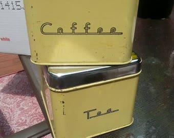 Retro Coffee and Tea Tins Nostalgic Vintage Containers