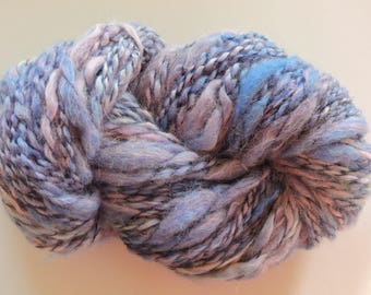 Purple Blue Art Yarn Super Bulky Thick and Thin Mohair Wool 17-11-55