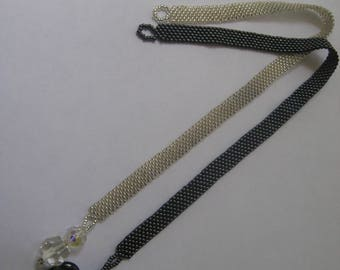 Beaded Bookmarks, Jewelry for your books , Silver and Black