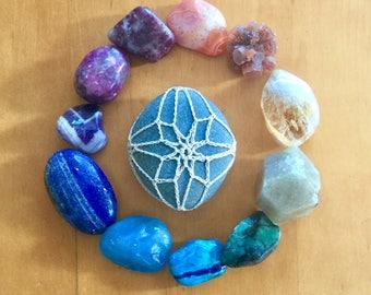 Crochet Meditation Ocean Stone #205