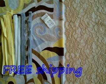FREE Ship DIY Fabric + Notions Art Deco design & Hazelnut for 1 BRA + Panty by Merckwaerdigh