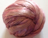 Hand Dyed Mulberry silk roving 1.5oz Ready to ship
