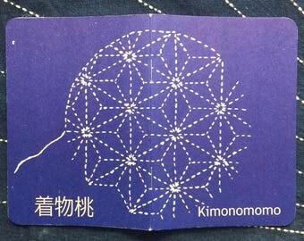 Scoutbook pocket notebook with Kimonomomo sashiko design