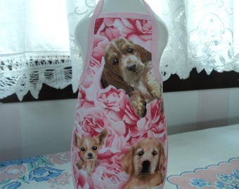 Puppies & Roses Bottle Apron - fits 25 oz.