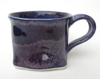 Purple Blue Sack Handmade Ceramic Pottery Coffee Mug