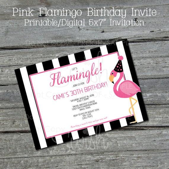 Flamingo Birthday Invite