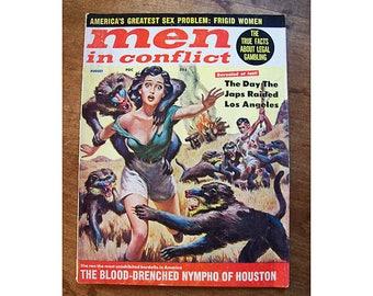 vintage Men in Conflict magazine 1962 men's adventure pulp retro girlie kitsch