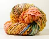 desert sunrise .. merino wool, handspun yarn, hand spun yarn, handspun art yarn, dk yarn, wild yarn, wool