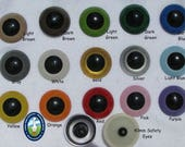 1 PAIR 40mm or 45mm Plastic Safety Eyes with Washers for Large Craft Progjects, Puppets, Teddy Bears, Dolls, Monster, sewing, crochet (PE-1)