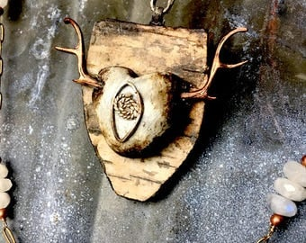 Rustic Heart Assemblage Necklace Artisan One of a Kind necklace