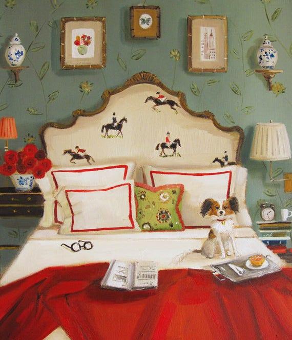 Red Roses And Dark Horses. Art Print