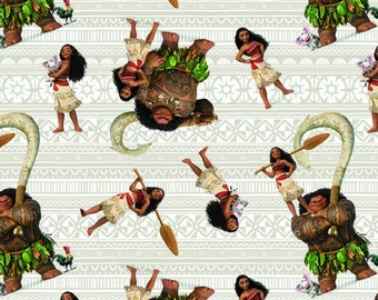 Disney, Moana and Friends, Springs Creative, cotton quilting fabric -  HALF YARD
