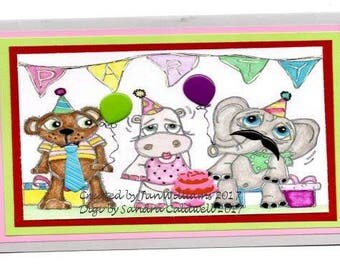 1669 Party Animals Digi Stamp