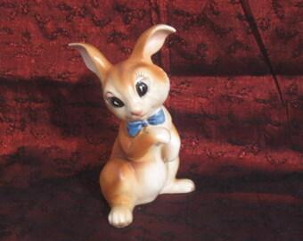 Vintage Ceramic bunny ceramic rabbit Easter Decor Rabbit Figurine Bunny Statue