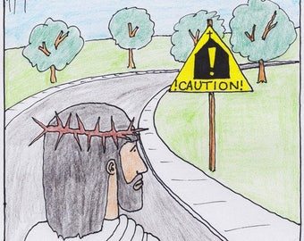 Caution Church Ahead CARTOON