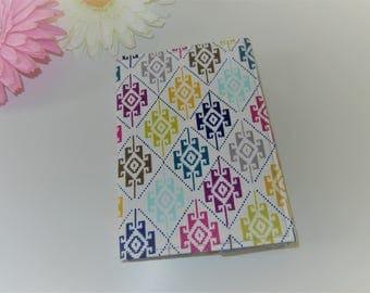 SALE Fabric Passport Cover in Jewel Aztec