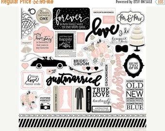 ON SALE Echo Park Wedding Bliss Element Stickers
