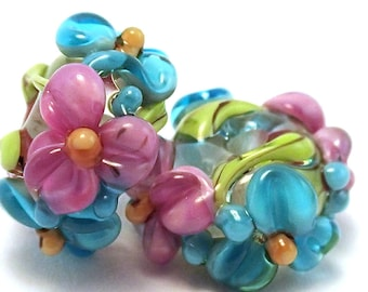 Spring Break Aqua Floral Spacers