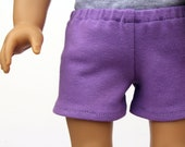 SAMPLE SALE - Fits like American Girl Doll Clothes - Knit Shorts in Lilac | 18 Inch Doll Clothes