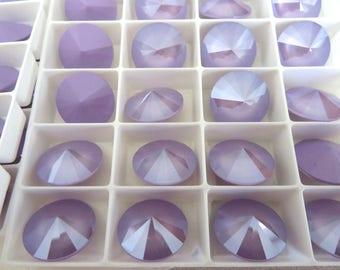 6 Lilac Swarovski  Rivoli Stone 1122 14mm