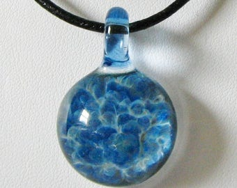 Brilliant Blue Glass Pendant