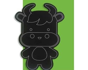 Scratch Art Cow Birthday Card