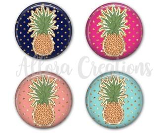 Pineapple Coasters, Set of 4 Coasters, Drink Coasters