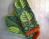Norwegian Style 100 % Wool Mittens - Made in Finland