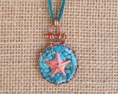 Copper Star Necklace - Turquoise - Cowgirl Jewelry - Leather - Cowgirl Necklace - Rustic Jewelry by Heart of a Cowgirl