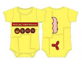 Beatles Yellow Submarine Baby Outfit  One piece  Romper   Fab Four