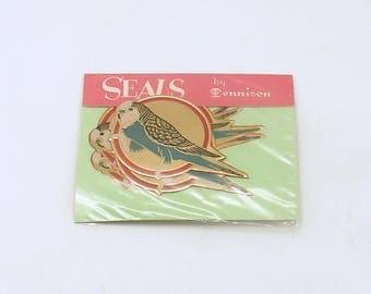Vintage Sticker Seals Parakeet Parrot Bird Stickers