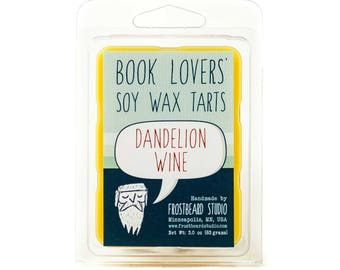 Dandelion Wine - Book Candle Tart -  Book Lover Gift - Scented Soy Candle Melt - Frostbeard Studio - 3oz pack