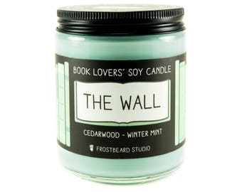 The Wall - 8 oz Book Lovers' Soy Candle - Book Lover Gift - Scented Soy Candle - Frostbeard Studio
