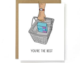 Funny Valentine Card - Love Card - You're The Best