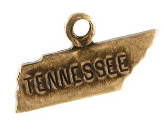 Brass Ox Tiny Tennessee State Charm Drops (6) chr203EE
