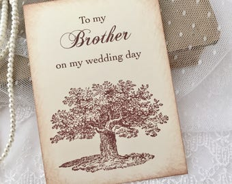 To my Brother Card, Card for Brother on Wedding Day Card