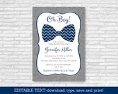 Bow Tie Baby Shower Invit...