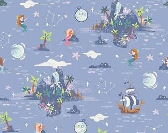 ON SALE Riley Blake Designs Neverland Island Periwinkle