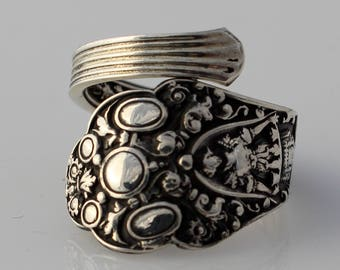 Spoon Ring Sterling Silver Medici Old by Gorham Size 3-9