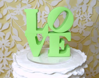 Pale Green Love topper ready to ship