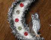 Owl Moon Cotton Christmas Ornament Tinsel