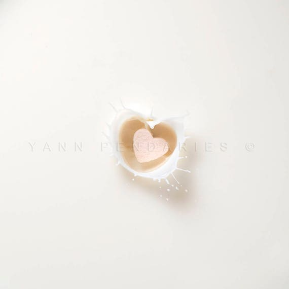 Wedding gift, girlfriend gift for her, wife gift for her, White heart print, Valentine's day, I love you photography, White wall art