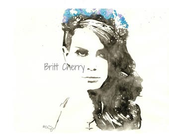 8x10 Original Watercolor | Lana Del Rey