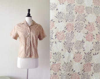 Everything is Rosy in the Garden Blouse | 1950s