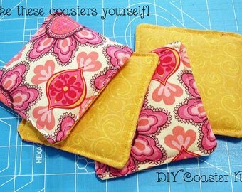 DIY Quilted Coaster Kit - Groovy - Easy Instructions