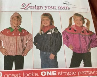 Simplicity 7567 Childs Hooded Jacket Pattern Size 2-4
