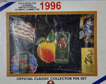 1996 Atlanta Olympic Games Official Classic Collector Pin Set  of Five Pins